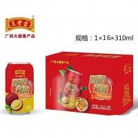 王老吉百香果维生素饮料310MLx16罐