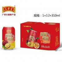 王老吉百香果维生素饮料310MLx12罐
